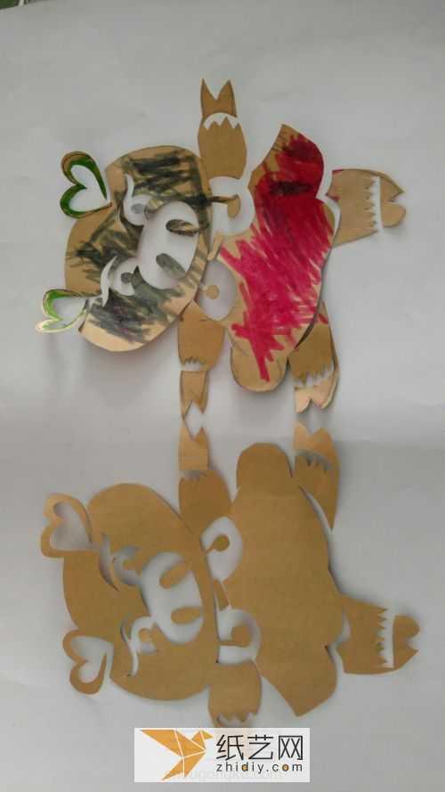 小猪教程网 简单儿童剪纸小猪手工制作教程