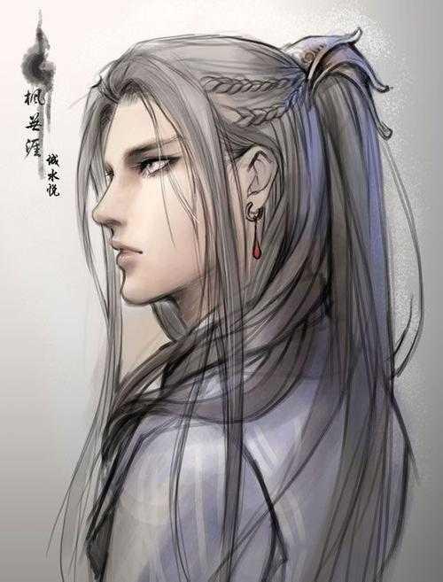 古风图片男子紫衣白发 古风图片男子白发